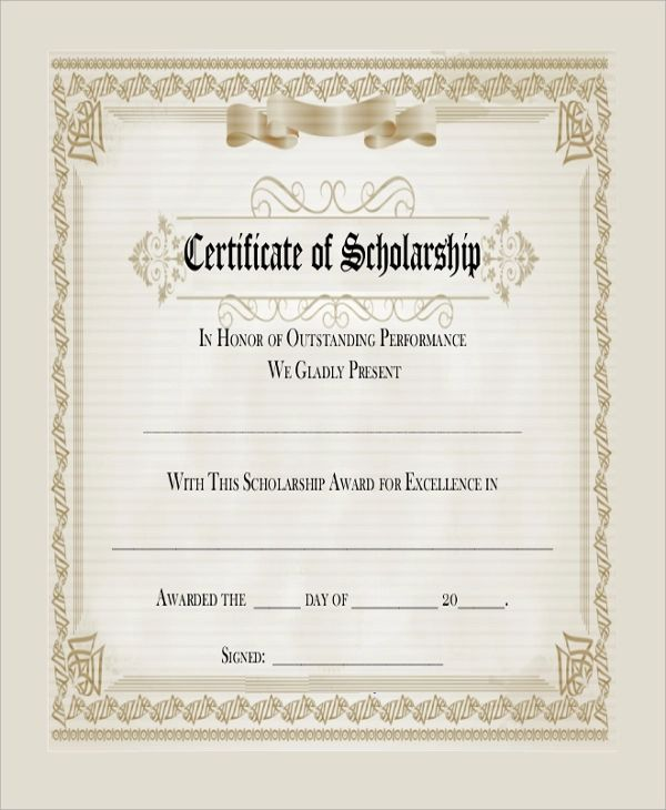 gift certificates format