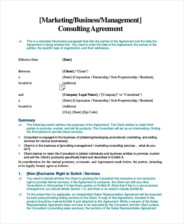 Consulting Agreement In Pdf Sample Consultant Agreement Template