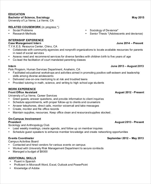 8+ Basic Resume Samples, Examples, Templates Sample Templates - sample resume basic