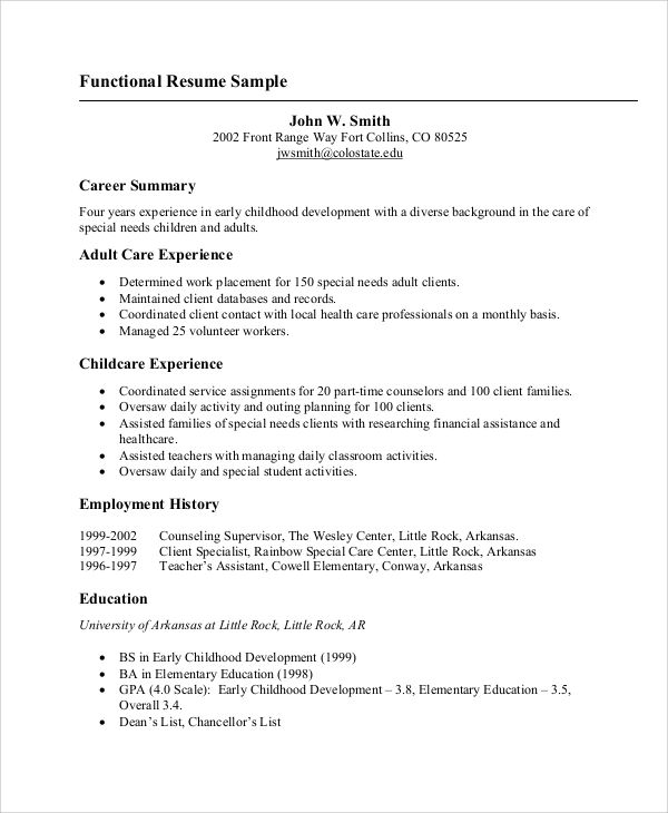 skills abilities for resume
