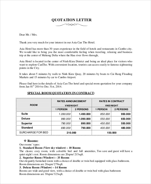 Sales Quotation Sample - 8+ Documents in PDF - business quotation sample