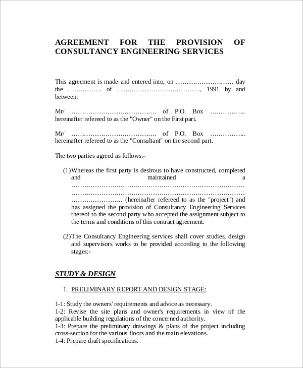 8+ Standard Consulting Agreement Samples Sample Templates