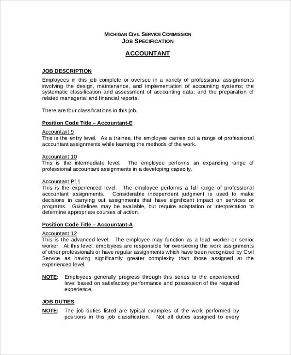 20+ Job Description Samples Sample Templates - samples of job descriptions