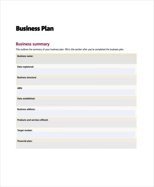 Sample Business Action Plan - 6+ Documents in PDF, Word