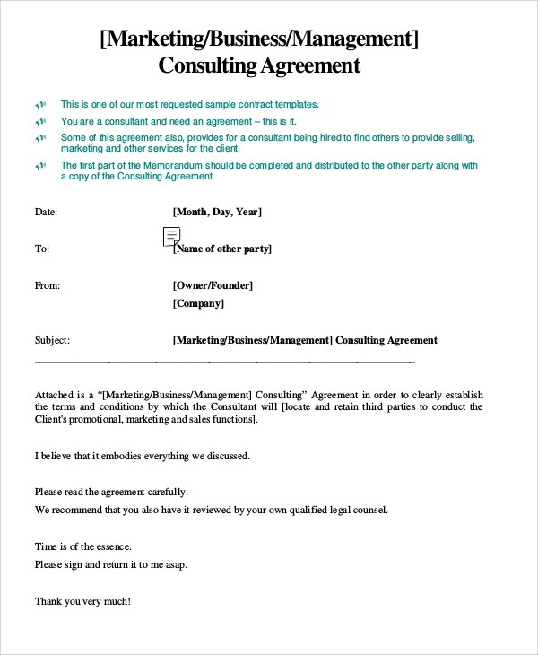 Sample Marketing Consulting Agreement - 5+ Documents in PDF - consulting services agreement