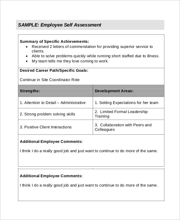self assessment essay sample sample self assessment example of a - leadership self assessment