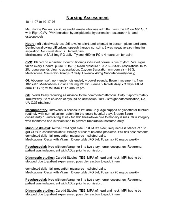 17+ Sample Assessments Sample Templates