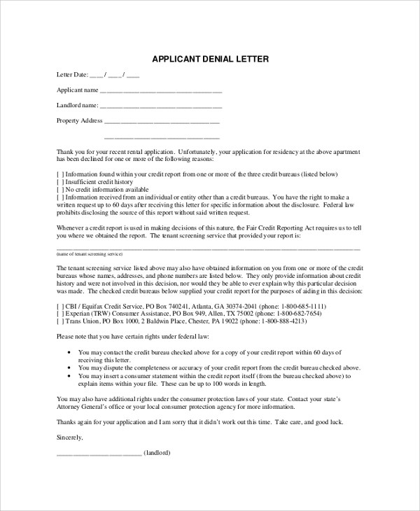 rental cover letter example