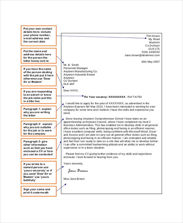 Careerperfectr Resume Writing Help Sample Resumes Sample Application Letter 18 Examples In Pdf Word