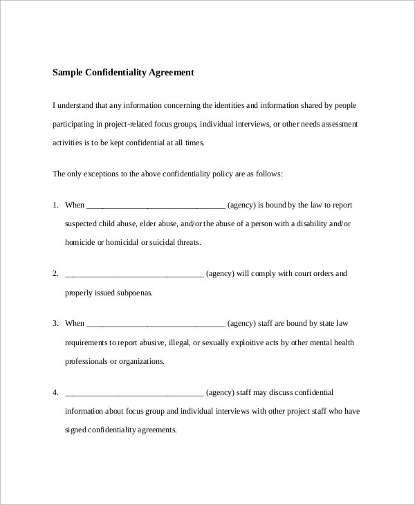 20+ Sample Agreements Sample Templates