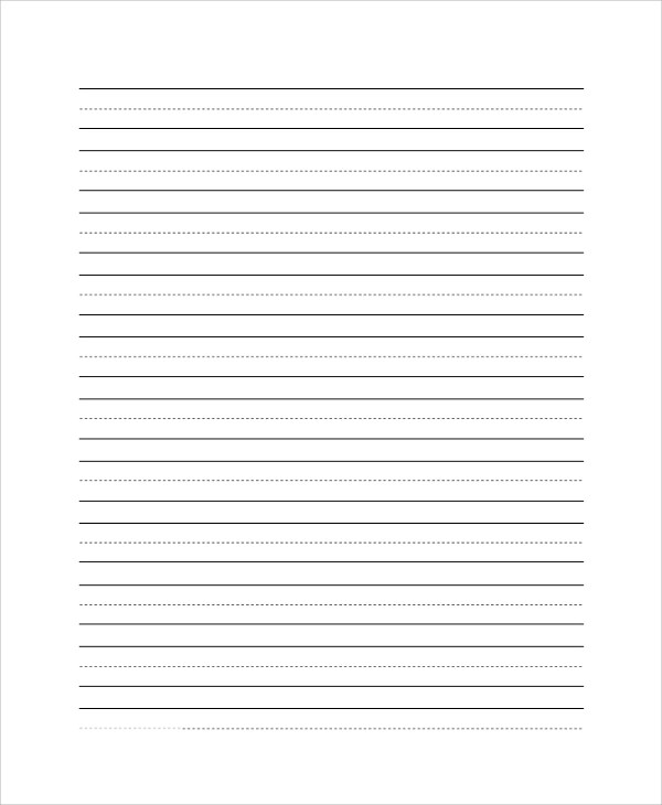 Printable Lined Paper Sample - 8+ Examples In Pdf, WordSample - lined paper pdf