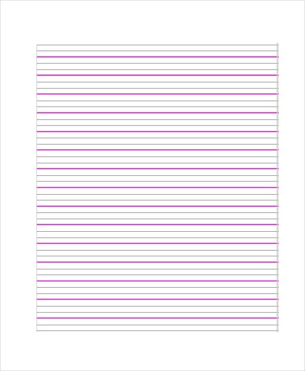 7+ Printable Lined Paper Samples, Examples, Templates Sample Templates
