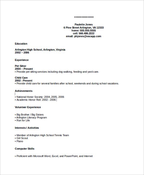 sample bpo resume
