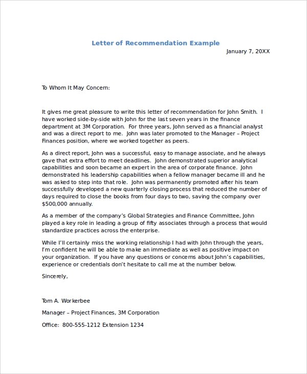 Recommendation Letter Employment Recommendation Letter Employment - example of reference letter