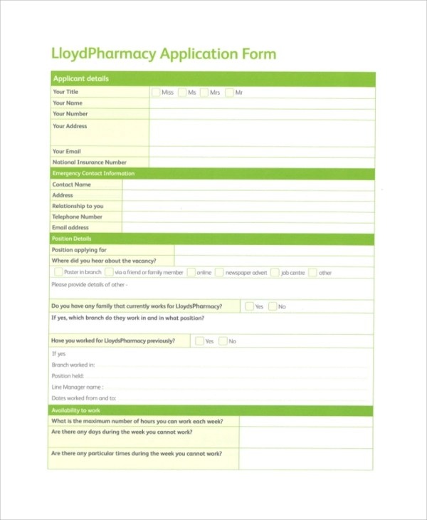 Target Job Application - 7+ Examples in PDF, Word - Target Application Form