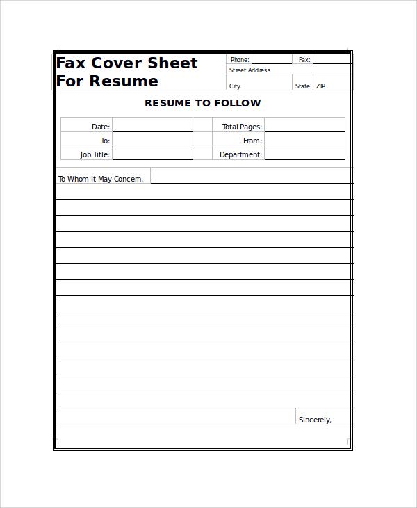 FaxCoverSheetForResumejpg – Fax Cover Sheet for Cv