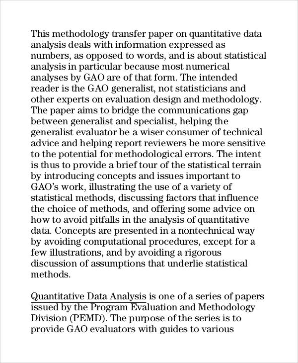 9+ Data Analysis Samples Sample Templates