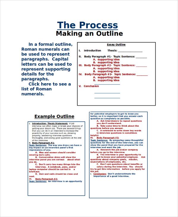 15+ Outline Samples Sample Templates - presentation outline templates
