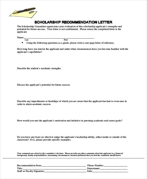 samples recommendation letters image collections letter format