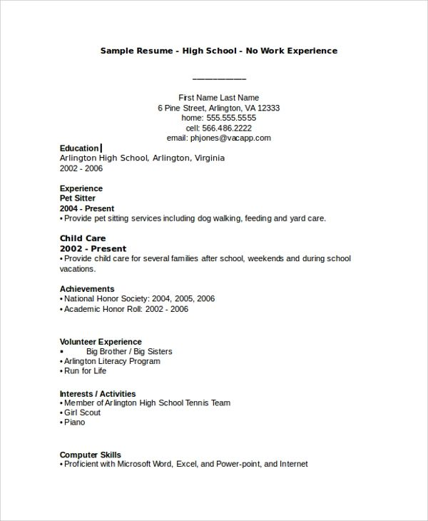 building professional resume