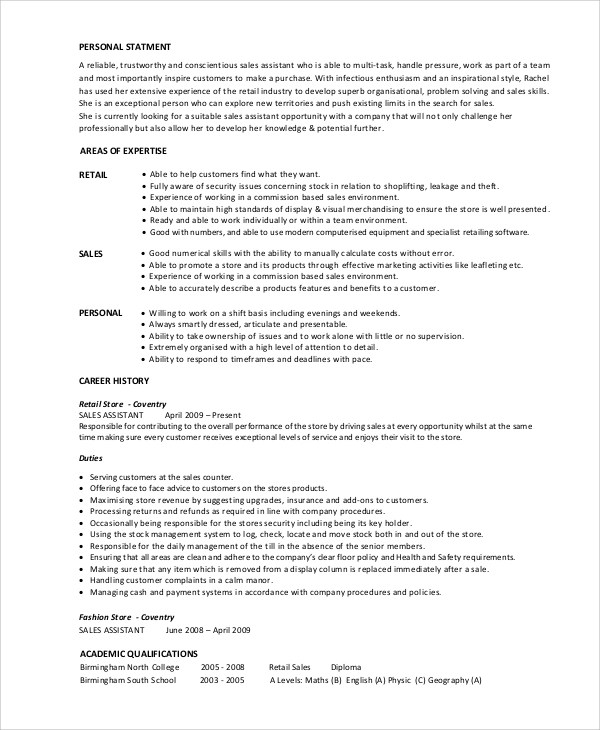 sample sales associate resume 7 examples in pdf stock associate resume - Example Sales Associate Resume
