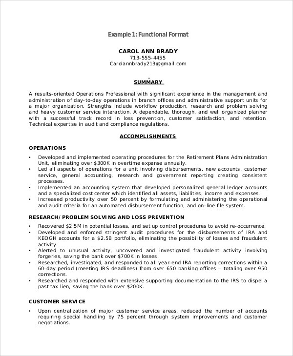 Functional Resume Template 2017 LearnhowtoloseweightnetSample - resume accomplishments examples