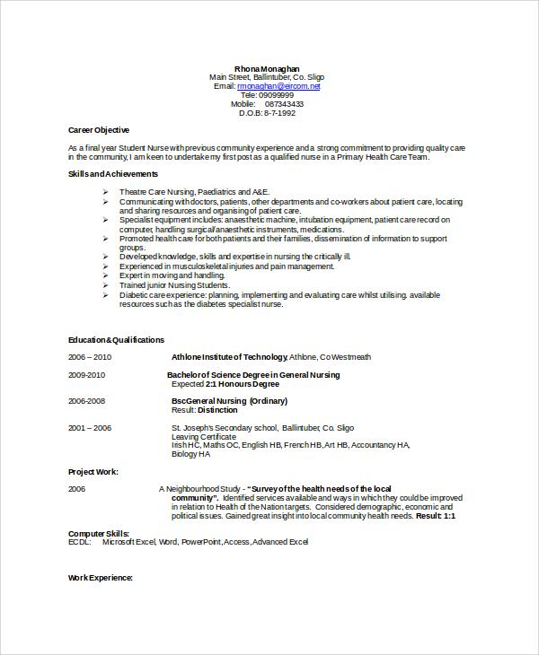 Resume Sample in Word - 8+ Examples in Word - resume sample in word