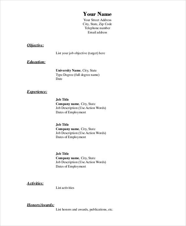 vassar resume guide