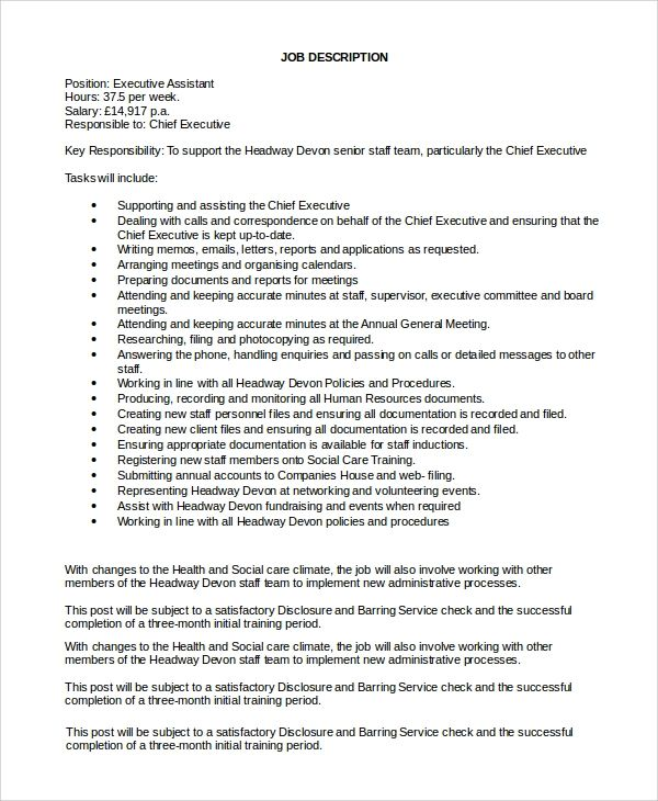 executive assistant role resume sample