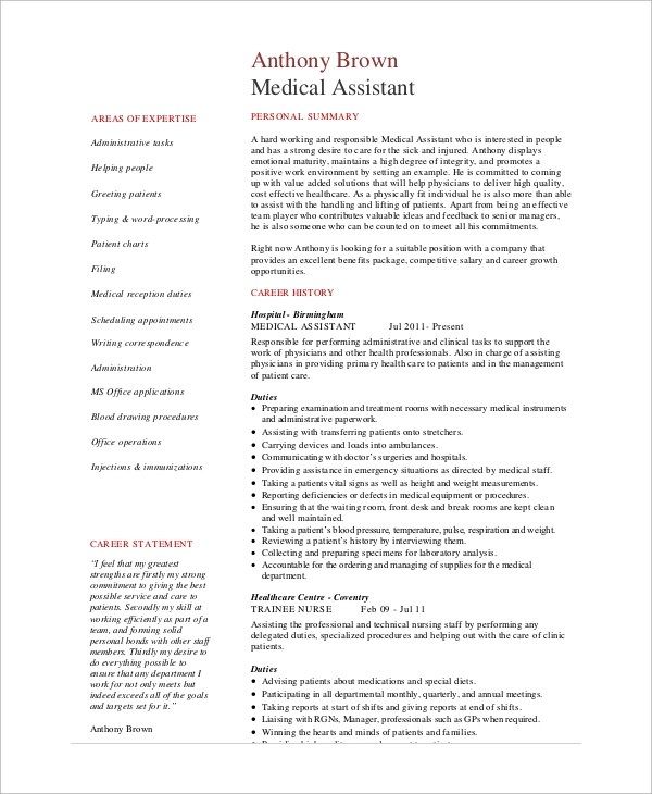 medical support assistant duties