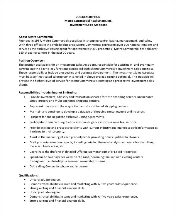 sales associate cashier job description