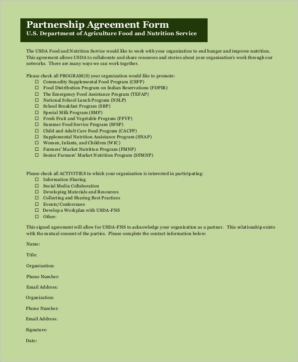 9+ Sample Partnership Agreements Sample Templates - Partnership Agreement Format