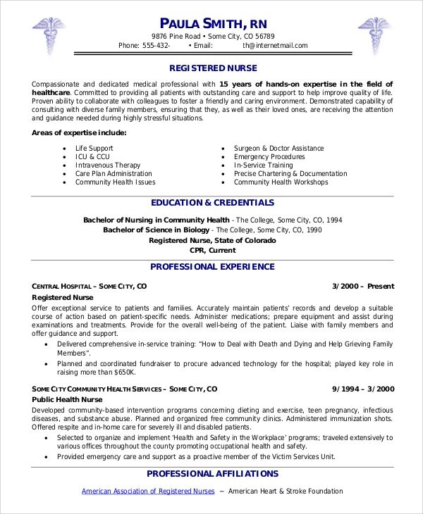 volunteer work on nursing resume