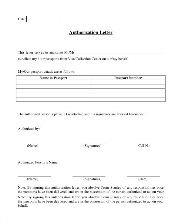 9+ Sample Authorization Letters Sample Templates - Authorization Letters Sample