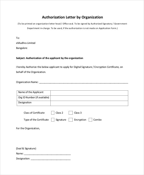 Sample Letter Of Authorization To Use Credit Card  Sample Cover