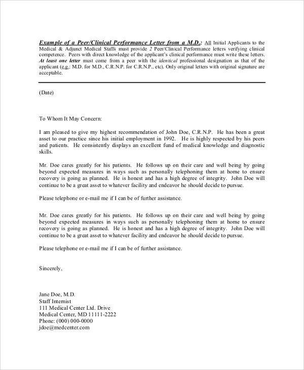 Sample Reference Letter - 8+ Examples in PDF, Word - example reference letter for employee