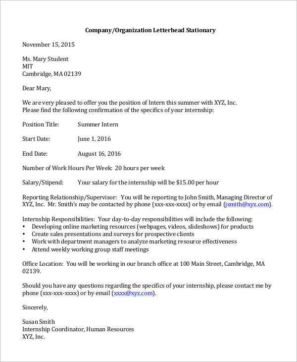 sample job rejection letter