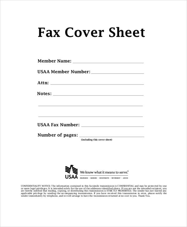 Fax Sheet Example Cvlettercsat - fax sheet example