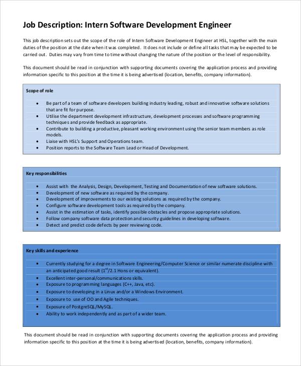 Software developer job description 9987935 - angrybirdsriogameinfo