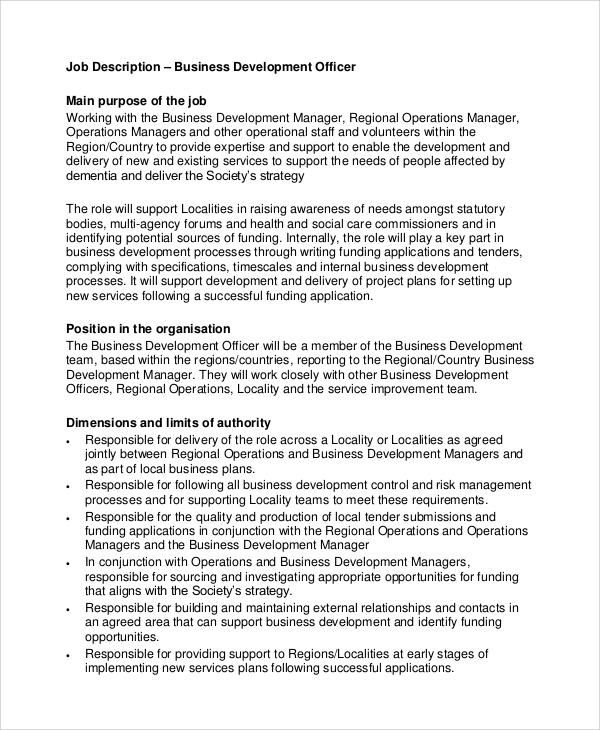 business development officer job description - Bire1andwap