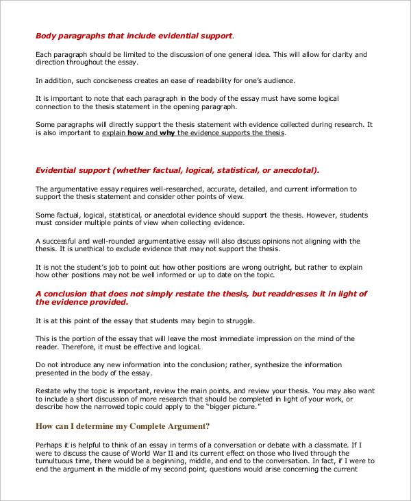Persuasive Essay Example - 8+ Samples in Word, PDF