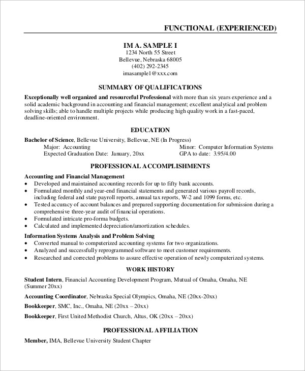 Example Resume - 9+ Samples in Word, PDF - surgical tech resume examples