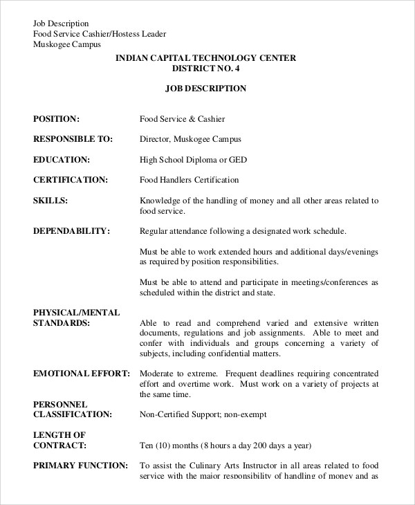 Cashier Job Description Accounting Clerk Resume, Sample, Example - accounting clerk job description