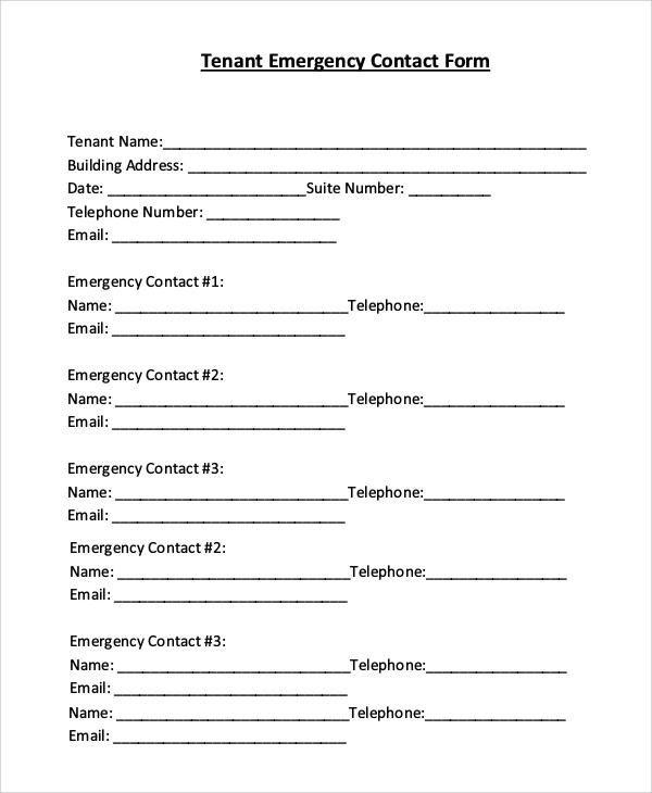 information form - Selol-ink - Tenant Information Form