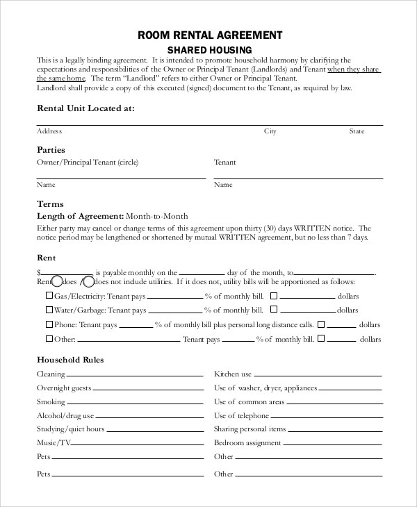 house rental agreements templates 27 House rental agreements – House Rental Agreements Templates