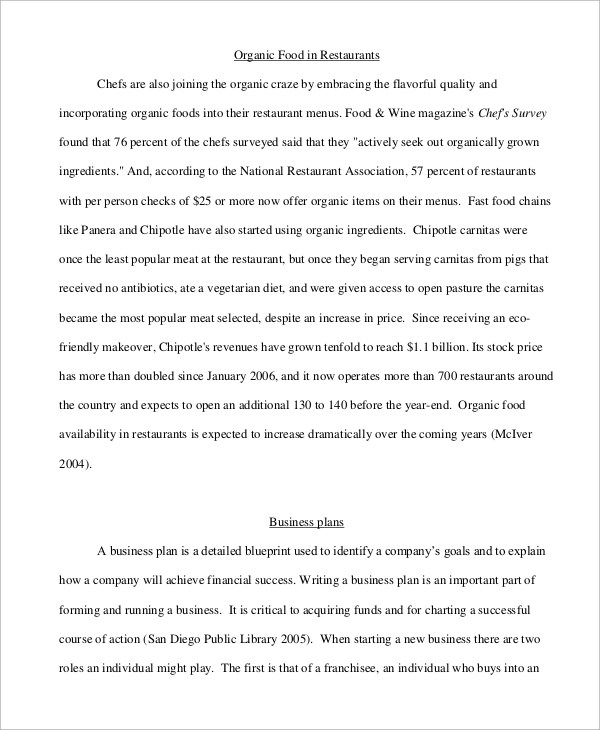 Business Plan Example - 8+ Samples in PDF