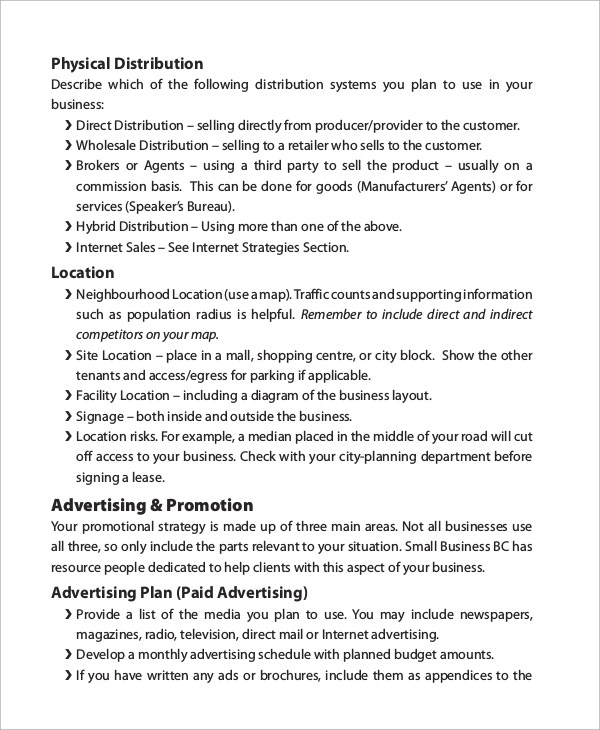 Business Plan Example - 8+ Samples in PDF - sample small business plans