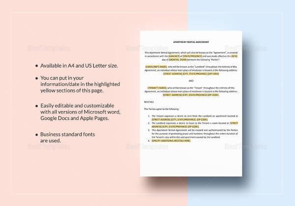 simple rental agreement template word - Militarybralicious - editable rental agreement