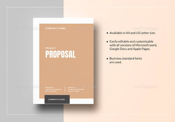 17+ Sample Project Proposals \u2013 PDF, Word, Pages, Indesign, Publisher - project proposal word template