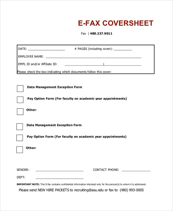 9+ Fax Cover Sheet PDF Samples Sample Templates - example fax cover sheet